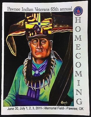 Pawnee Indian Veterans 65th Annual Homecoming 2011 Program Booklet Oklahoma