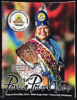 136th Ponca Pow Wow Ponca Tribe Oklahoma Program Booklet 2012