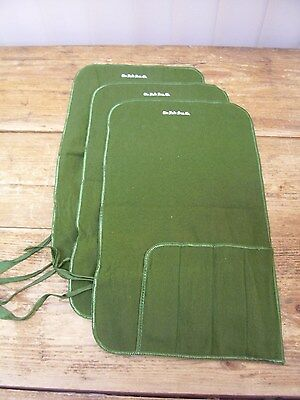 3 Green Cloth Tarnish Free Silverware Flatware Knife Holder The Halle Bros Co