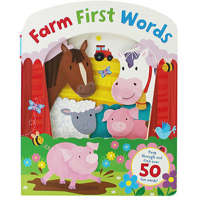 Farm First Words (Board Book), Children's Books, Brand New