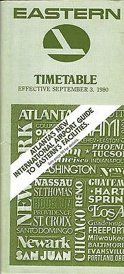 Airline Timetable - Eastern - 03/09/80