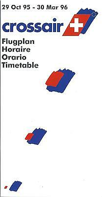 Airline Timetable - Crossair - 29/03/95