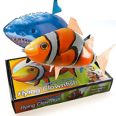 Air Swimmer -Flying Nemo Shark Blimp Toy - Remote Control RC Inflatable Balloon