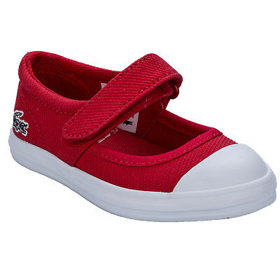 Infant Girls Lacoste Zayla 116 Trainers In Red From Get The Label