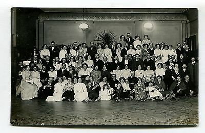 Reading, Berkshire - unknown event, people - old real photo postcard