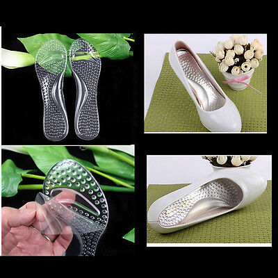 Silicone Gel Cushion High Heel Shoe Insert Insole Foot Arch Care Support Pad New