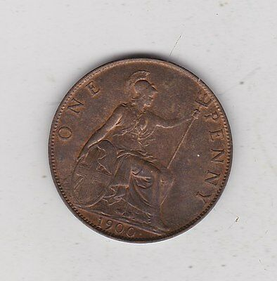 1900 Victoria Penny In Extremely Fine Condition