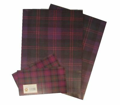Blair SCOTTISH TARTAN LUXURY GIFT WRAP 2 sheets wrapping paper tags PURPLE CHECK