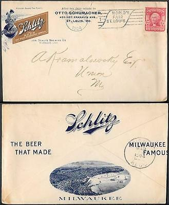 USA Illustrated Cover 1904. Schlitz Beer Brewing Company. St.Louis World Fair