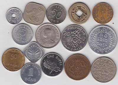 15 Coins From Asia In Used To Mint Condition