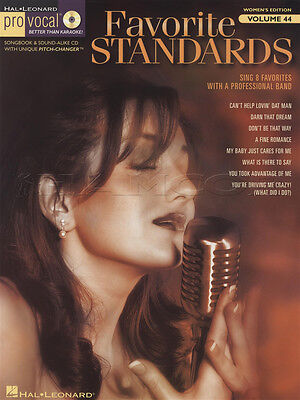 Favorite Standards Pro Vocal Vol 44 Sheet Music Book with CD Sing Womens Edition