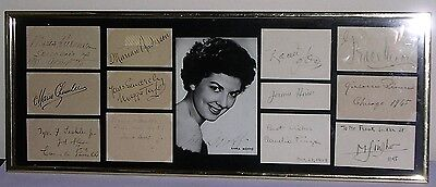 Signed Anna Moffo Picture & Autographs 12 Opera Stars 1940's Framed Collection