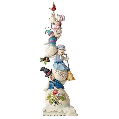 Jim Shore Heartwood Creek Stacked Snowman Family Figurine New Boxed 4053716