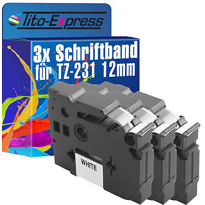 3x Beschriftungsband ProSerie für Brother P-Touch H101GB H101LB H101TB TZ-231