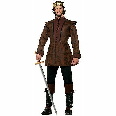 Medieval Fantasy King Adult Costume Coat One Size