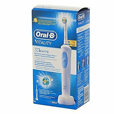 "Braun Oral-B Vitality 3D White Rechargeable Electric Toothbrush ""Damaged Box"""