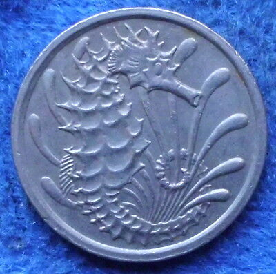 """SINGAPORE - 10 cents 1976 """"seahorse"""" KM# 3 - Edelweiss Coins"""