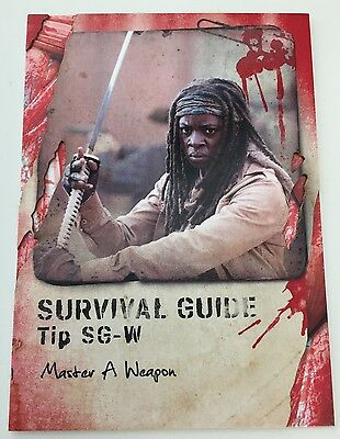2016 Topps The Walking Dead Survival Box Guide #SG-W Master A Weapon MICHONNE