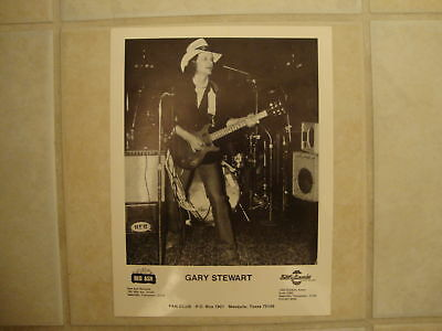 Vintage GARY STEWART Red Ash Records promo Photo