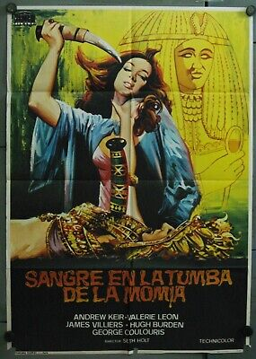 WC01 BLOOD FROM THE MUMMY'S TOMB HAMMER ORIGINAL 1sh SPANISH POSTER