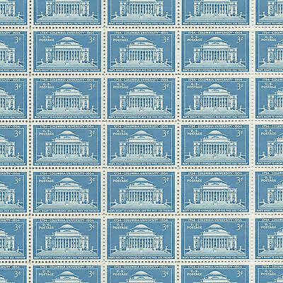 Columbia University 200th Anniversary - Vintage Mint Sheet of 50 Stamps!