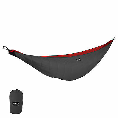 ENO Ember 2 UnderQuilt Blanket Camping Backpacking Hammock Charcoal/Red