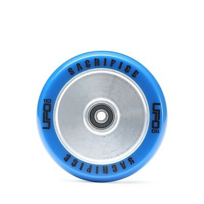 Sacrifice UFO HollowTech Scooter Wheel 120mm  Blue / Polished + Free delivery