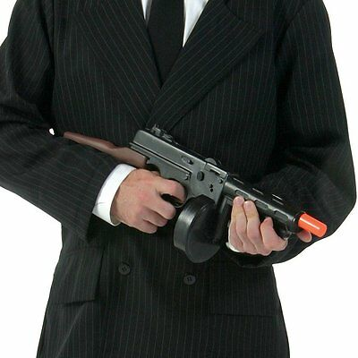 Plastic Toy Tommy Machine Gun 1920's Decade Gangster Costume Party Accessory