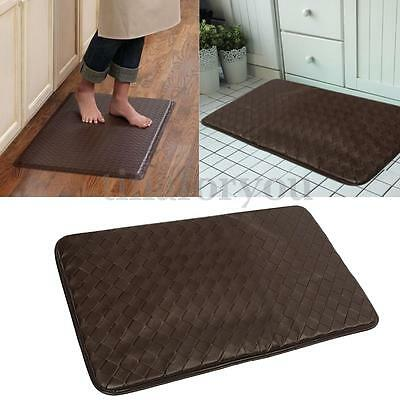 Anti-Fatigue Cushion Comfort Thick Foam Leather Kitchen Floor Mat 30 X 18""