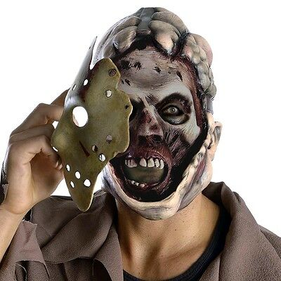 Adult Full Jason Voorhees Hockey Mask Halloween Horror Party Outfit Accessory