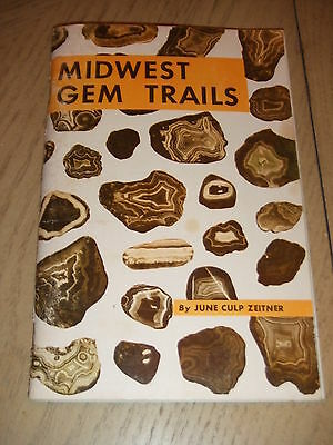 VINTAGE 1964 Midwest Gem Trails Rockhound Guide June Zeitner Rock Hunting Mines