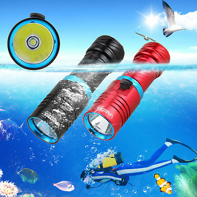 Diving 10000LM XM-L T6 LED Flashlight Torch Aluminum 18650 Lamp Adjust Brightnes
