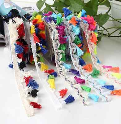 Mix-color Tassel lace Trim Wedding Bridal Ribbon Sewing Clothing accessories