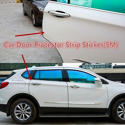 16FT/5M Door Edge Guard Scratch Protector Molding Strip Trim Car/Truck Kit Black