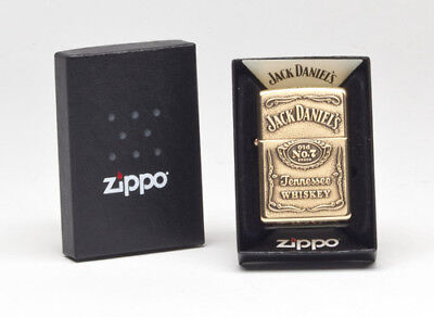 Zippo 254BJD.428 High Polish Brass Jack Daniel's Label-Brass Emblem Lighter