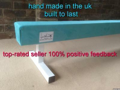 "finest quality gymnastics gym balance beam 8FT long 12"" high choice of colours"