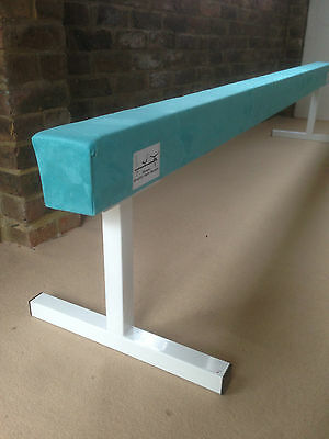 "finest quality gymnastics gym balance beam 8FT long 18"" high TURQUOISE NEW"