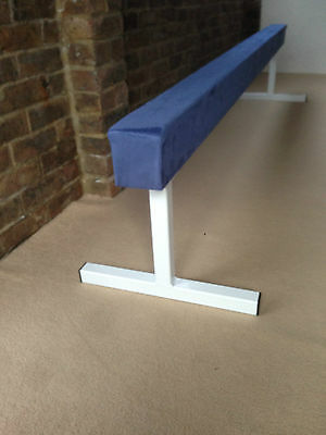 "finest quality blue gymnastics gym balance beam 8FT long 18"" high BLUE NEW"