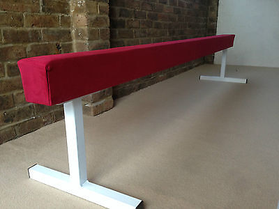 "finest quality RED gymnastics gym balance beam 8FT long 18"" high RED BRAND NEW"