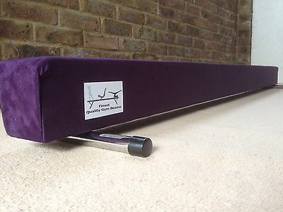 finest quality gymnastics gym balance beam purple 4FT long brand new reduced
