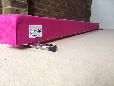 LIMITED EDITION finest quality gymnastics gym balance beam 4FT long HOT PINK