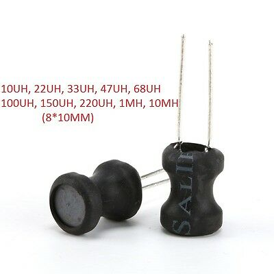 8*10mm Radial Ferrite Choke Inductor Coil H 22UH-10MH Inductors Wound Inductance
