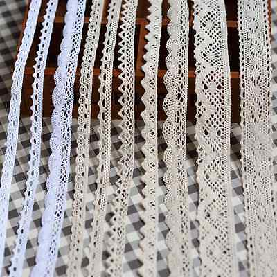 5Y Diverse Vintage Cotton Soluble lace Crochet Trim Wedding Bridal Ribbon Sewing