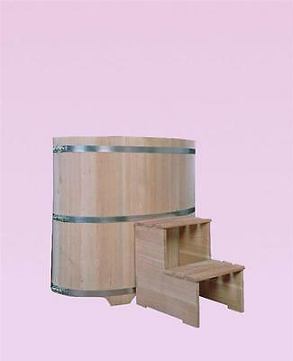 Plunge pool Larch with colorless Coating interior 480L