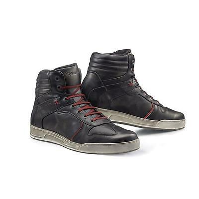 Scarpe Sneakers Shoes Stylmartin Iron Wp Waterproof Nero Tg.39 Pelle Pieno Fiore
