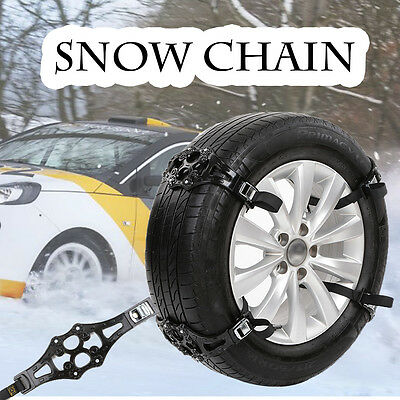 1x Easy Install Simple Winter Truck Car Snow Chain Tire Anti-skid Belt Black