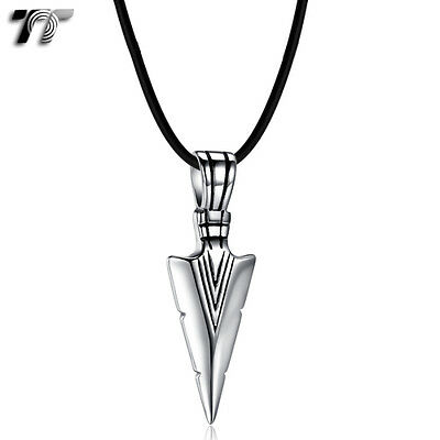 Quality TT 316 Stainless Steel Spear Pendant Necklace (NP333) NEW