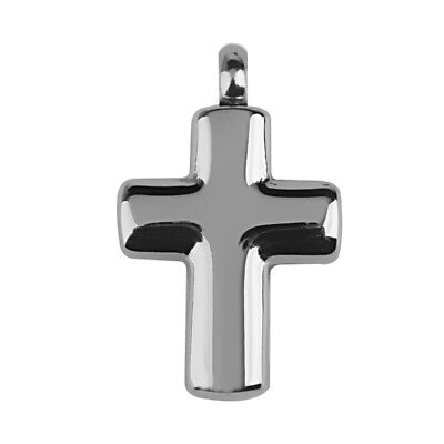 Silver Cross Cremation Pendant Memorial Urn Ashes Keepsake Jewelry