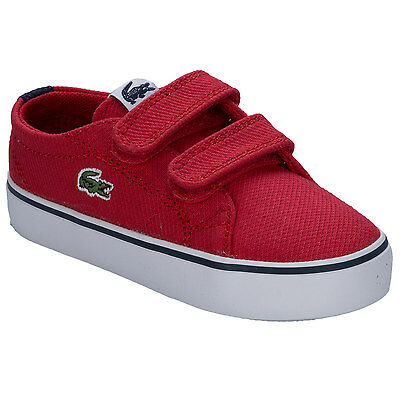 Infant Boys Lacoste Marcel Chunky Trainers In Red - Hook And Loop Fastening