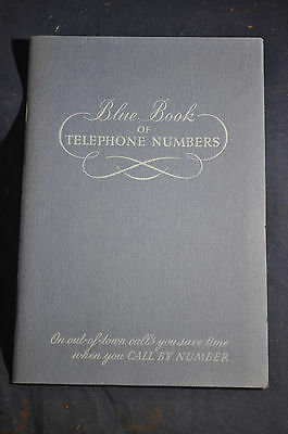 VINTAGE Blue Book of Telephone Numbers - New York Telephone Company